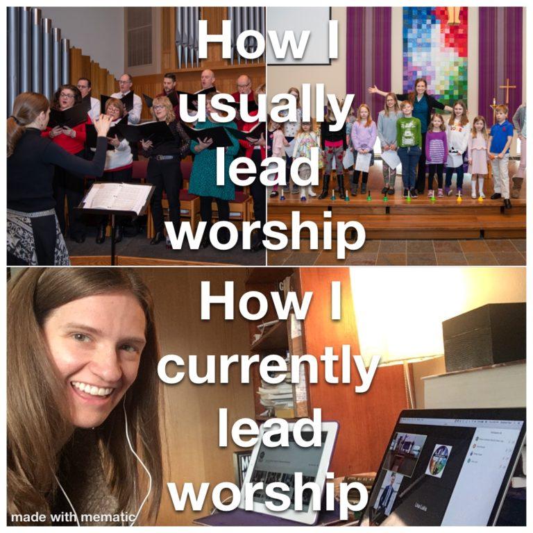 Stef Fiser Kleven leading worship
