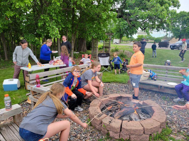 bonfire dinner