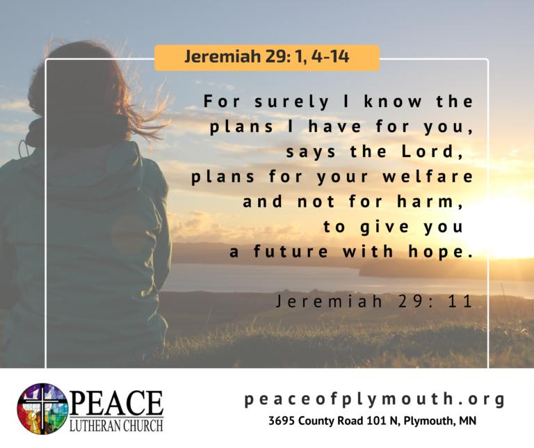 Jeremiah 29 1, 4-14