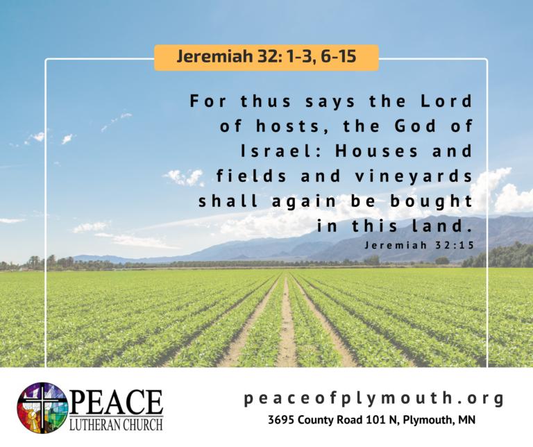 Jeremiah 32 15