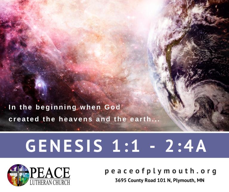 Genesis 1 1 - 2 4a